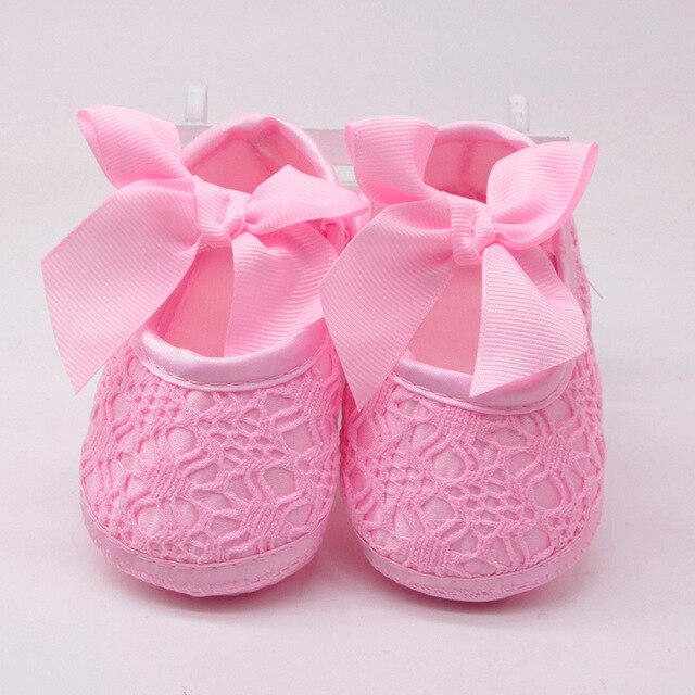 Huang Neeky #P501 2019 Newborn Baby Girls Soft Shoes Soft Soled Non-slip Bowknot Footwear Crib Shoes First Walker Drop Shipping