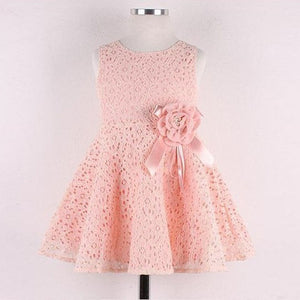 Girls Dress Lace One Piece flower Children Clothing Princess Party Kids Dresses For Girls Costume Kids Wedding Dress 1N5