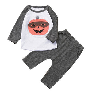 Halloween Toddler Boys Clothes Autumn Winter Cotton Pumpkin T-shirt+Pants Kids Outfits Sport Suits Children's 2PCS Clothing Sets
