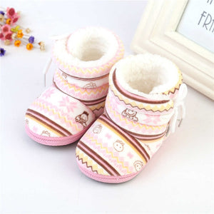 Baby Boy Girl Shoes Soft Sole First Walker Baby Booties Cotton Cartoon Anti-slip Snowshoes Toddler Newborn Shoes Boy