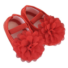 Load image into Gallery viewer, Toddler Kid Baby Girl Chiffon Flower Elastic Band Newborn Walking Shoes F5