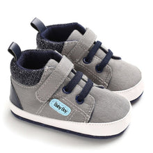 Load image into Gallery viewer, Cute Baby Shoes Spring Autumn Warm Soft Sole Baby Retro Canvas Shoes Cotton Padded Infant Baby Boys Girls Soft Boots 6-12M