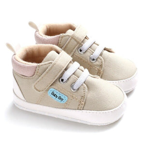 Cute Baby Shoes Spring Autumn Warm Soft Sole Baby Retro Canvas Shoes Cotton Padded Infant Baby Boys Girls Soft Boots 6-12M