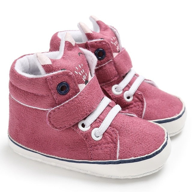 Winter Autumn Baby Warm Shoes Kid Boys Girls Fox Head Lace Cotton Cloth First Walker Anti-slip Soft Sole Toddler Sneaker