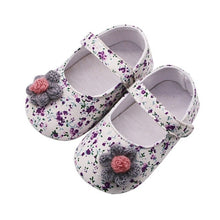 Load image into Gallery viewer, Baby Shoes Baby Girl Breathable Floral Print Anti-Slip Shoes With Flower Casual Sneakers Toddler Soft Soled First Walkers
