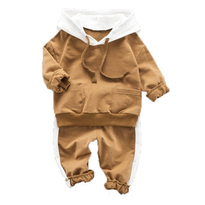 Children's Sets Full Sleeve Hooded Sweatshirt Kids Clothing Winter Pants Pullover Tops Baby Boy Clothes Roupas Infantil Menino