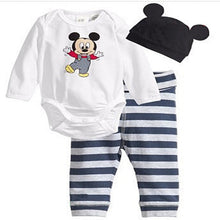 Load image into Gallery viewer, Spring 3pcs Children Clothing Baby Boy Clothing Set Cotton Baby Girl Clothes Set Newborn Baby Clothes Cute Mickey Home Style