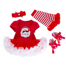 Load image into Gallery viewer, Baby Christmas Clothes 4PCS Winter Sets Santa Claus Print Romper Tutu Dress New Year Party Toddler Kids Boys Girls Clothes 19Sep