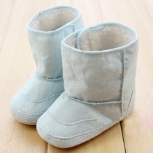 Load image into Gallery viewer, Baby Infants Crochet Knit Fleece Boots Toddler Girl Boy Wool Snow Crib Shoes Winter Warm Booties First Walkers New
