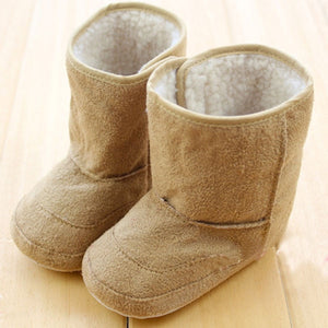 Baby Infants Crochet Knit Fleece Boots Toddler Girl Boy Wool Snow Crib Shoes Winter Warm Booties First Walkers New