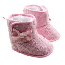 Load image into Gallery viewer, Winter Baby Girls Warm Boots Shoes Flower Printed russia infants warm shoes Soft Sole No-slip Infant First Walker Prewalkers