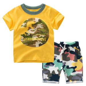 Kids Boys Clothes Summer 2019 Children Clothing Set Baby Boy Camouflage T Shirt Shorts Sport Suit Outfit 1 2 3 4 5 6 7 Years