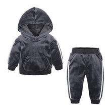 Load image into Gallery viewer, Toddler Kids Clothing Set Girl Boy Fleece Warm Hooded Sweatshirt Long Pants Outfits Set Fashion Autumn Winter Costume M850#
