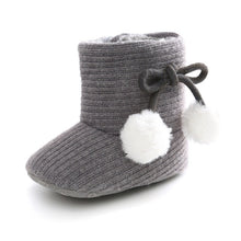 Load image into Gallery viewer, Cute Autumn Winter Infants  Shoes Baby Girl Boy Polka Dot Knitting Boots Casual Sneakers Non-slip Soft Soled Walking Shoes