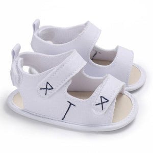 2018 Baby Boy Girls Sandal Summer Moccasins Shoes Casual Cotton Bottom Anti-Slip Sandal 0-18M