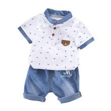 Load image into Gallery viewer, Casual Toddler Outfits Baby Boy Summer Clothes Newborn Boy Clothing Set Sports T-shirt+ Shorts Suits Leaves Print Clothes