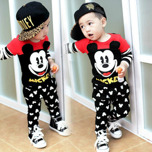 2019 New Arrival Disney Baby Girl Clothes Spring Autumn Mickey Baby Boy Clothing Set Cotton 2pcs Infant Clothes Kids Clothes