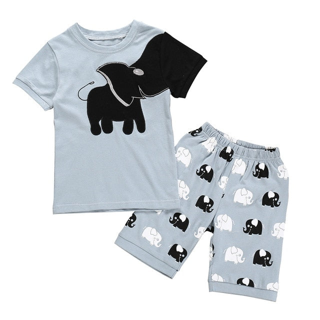 Boys Clothes Pajamas Cartoon Printed Tops Shorts Pants Kids Tracksuit Sports Suits For Child Boy Clothing 1 2 3 4 5 6 7 Years