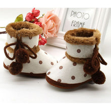 Load image into Gallery viewer, Newborn Baby Boys Girls Winter Boots Soft Bottom Baby Moccasin Warm Boots Non-slip Booties For Baby Girls