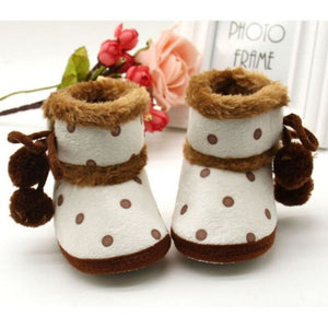 Newborn Baby Boys Girls Winter Boots Soft Bottom Baby Moccasin Warm Boots Non-slip Booties For Baby Girls