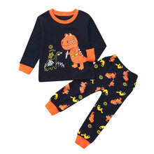 Load image into Gallery viewer, 2PCS Children Kids Boy Clothing Set Dinosaur Print Top Clothes+Long Pants Set Outfit Toddler Boy Clothes 2019 Baby Boys Sets