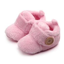 Load image into Gallery viewer, Lovely Hookloop Design Boy Girls Toddler First Walkers Baby Shoes Round Toe Flats Soft Slippers Shoes winter Baby Warm Shoes