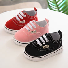 Load image into Gallery viewer, Newborn Shoes Infant Toddler Baby Boy Girl Spring Autumn Soft Bottom Spring Canvas Shoes Walkers Newborn0- 24M