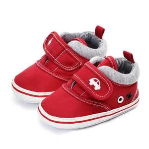 Autumn Baby Boys Girls Canvas Shoes High Quality Two Strap Newborn Baby Toddler Fashion First Walkers For 0-18M