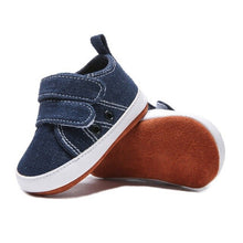 Load image into Gallery viewer, Baby Boy Canvas Shoes Infant First Walkers Nonslip hard Sole Toddler Baby Shoes Sole Shoes Canvas Sneaker For 0-18M