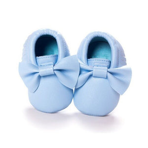 Baby Girls Shoes Tassels PU Leather Waterproof Baby Shoes Newborn Moccasin Soft Infants  Prewalker 18 colors