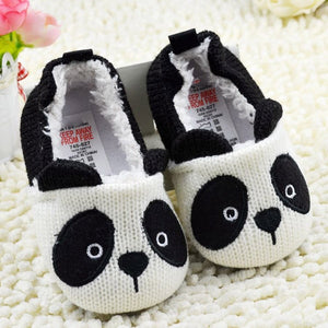 Girls Boy Infant Cute Cartoon Panda Crochet Knitted Soft Crib Stylish Lovely Baby Shoes Prewalking Shoes First Walkers