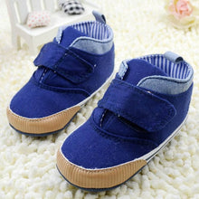 Load image into Gallery viewer, Newborn Baby Boys Cotton Ankle Canvas High Crib Shoes Casual Sneaker Toddler First Walkers