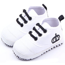 Load image into Gallery viewer, Fashion Baby Boys White/Red Soft Sole Crib Shoes Girls Cotton Sneaker Prewalker