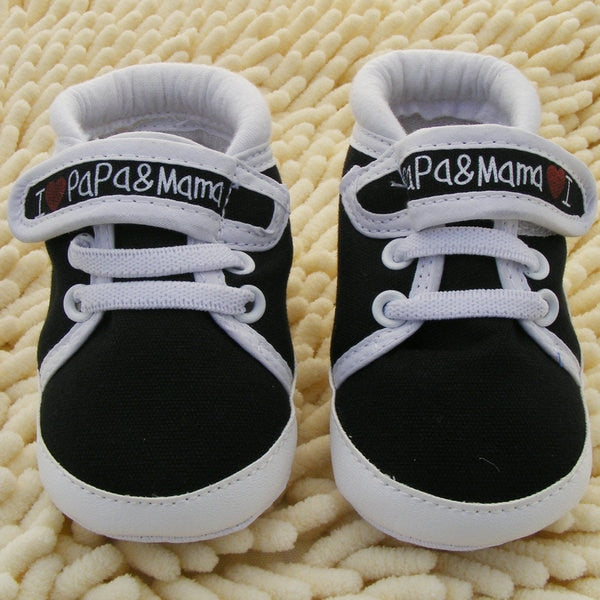 0-18M Baby Infant Kids Boy Girls Soft Sole Canvas Sneaker Toddler Newborn Shoes New
