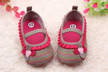 Load image into Gallery viewer, Stylish 0-12 M Sweet Newborn Baby Girls Flower Ruffled Shoes Toddler Soft Bottom Kids Crib First Walkers