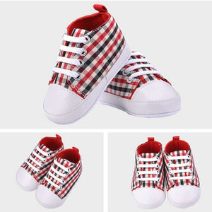 Baby shoes Girls Boys Lace-up canvas shoes soft prewalkers casual bebe shoes