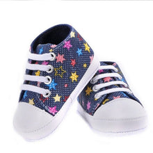 Load image into Gallery viewer, Baby shoes Girls Boys Lace-up canvas shoes soft prewalkers casual bebe shoes
