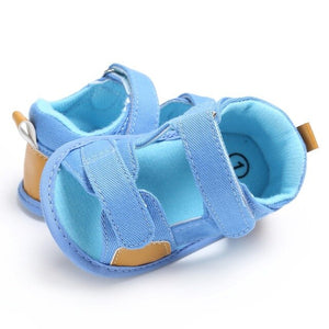 New Summer Breathable Baby Boys Kids Splice Color Hollow Out Anti-skid Casual Baby Canvas Cack Shoes
