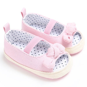 Baby Sandals Girls Solid Color Cute Shoes Kids Girl Butterfly Baby Sandals For Toddler Skidproof