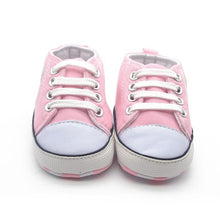 Load image into Gallery viewer, Summer Canvas Baby Shoes Infant Cotton Fabric First Walkers Soft Sole Shoes Girl Boys Footwear 6 colors