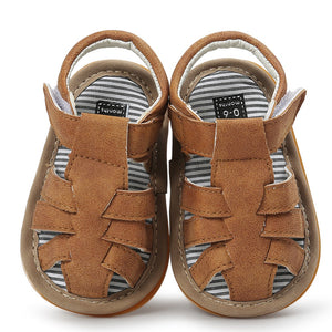 New fashion newborn baby striped soft sandals toddler shoes sandals summer comfortable breathable sports shoes PU sandals 2018