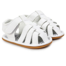 Load image into Gallery viewer, New fashion newborn baby striped soft sandals toddler shoes sandals summer comfortable breathable sports shoes PU sandals 2018