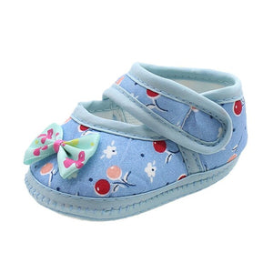 ROMIRUS Soft Sole Cotton Newborn Infant Baby Bow Girls Soft Sole Prewalker Warm Casual Flats First Walkers Toddler Shoes 15