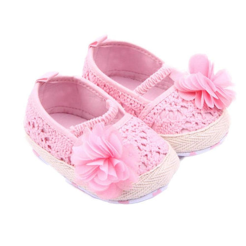 LONSANT First Walker Baby Shoes 2018 Baby Girl Flower Shoes Sneaker Anti-slip Hand knitting Soft Shoes Dropshipping Wholesale