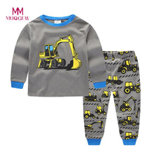 Load image into Gallery viewer, 2018 Brand New Fashion Toddler Boys Clothing Set Long Sleeve O-neck Cotton Tractors Print Cartoon Tops+Pants Baby Clothes