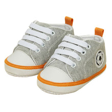 Load image into Gallery viewer, Unisex Kids Baby Soft Soled Crib Shoe Laces Up Sneakers Walking Prewalker 0-18 Month New
