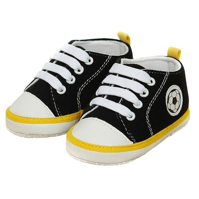 Unisex Kids Baby Soft Soled Crib Shoe Laces Up Sneakers Walking Prewalker 0-18 Month New