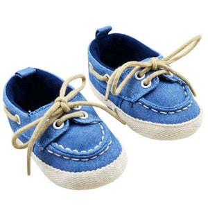 Toddler Boys Girls First Walkers Soft Sole Crib Canvas Shoes Lace-up Sneaker Baby Shoes Prewalker Footwear Born Shoes New