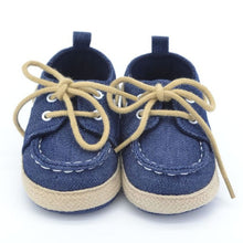Load image into Gallery viewer, Toddler Boys Girls First Walkers Soft Sole Crib Canvas Shoes Lace-up Sneaker Baby Shoes Prewalker Footwear Born Shoes New