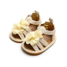 Load image into Gallery viewer, Princess Baby Girl Sandals Summer Baby Girl Shoes Leather Foral Baby Girl Sandals Newborn Baby Shoes Beach Sandals